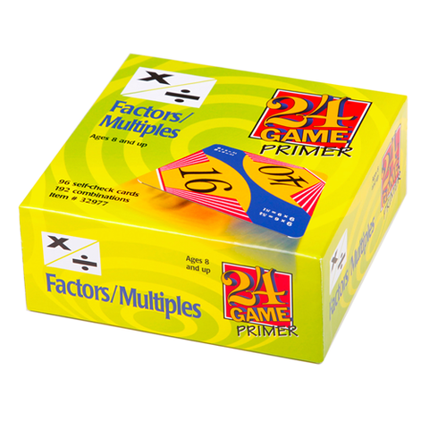 24 GAME Factors Multiples 96 Card Deck