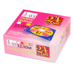 24 GAME Fractions Decimals 96 Card Deck