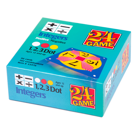 24 GAME Integers Positive and Negative 96 Card Deck