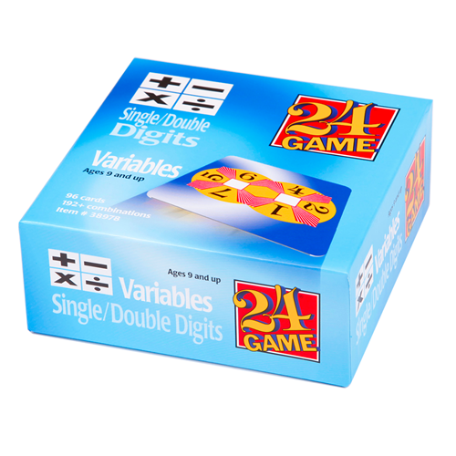 24 GAME Single and Double Digits Variables 96 Card Deck