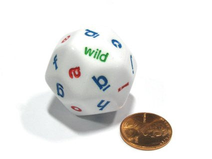 30-sided Alphabet Dice, Set of 4 EducationalLearningGames.com