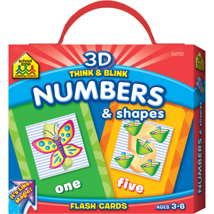3D Think & Blink Number & Shapes Flash Cards