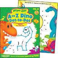 A to Z Dino Dot-to-Dot Wipe-off Workbook