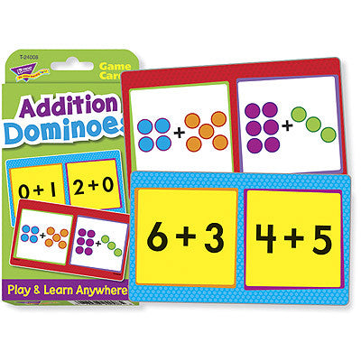 Addition Dominoes Math Flash Cards