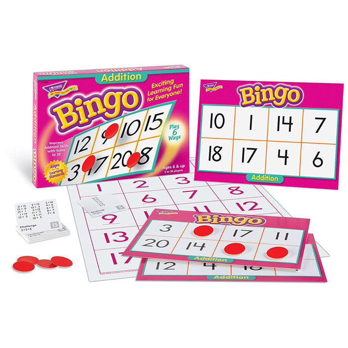 Addition Math Bingo Game