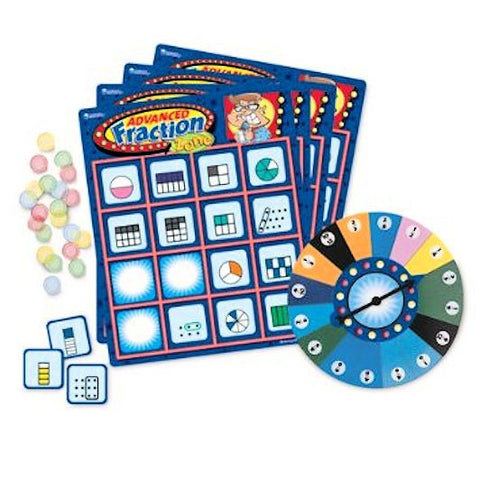 Advanced Fraction Zone Bingo Game - EducationalLearningGames.com