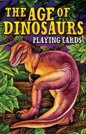 Ages of Dinosaurs Playing Cards Deck - EducationalLearningGames.com
