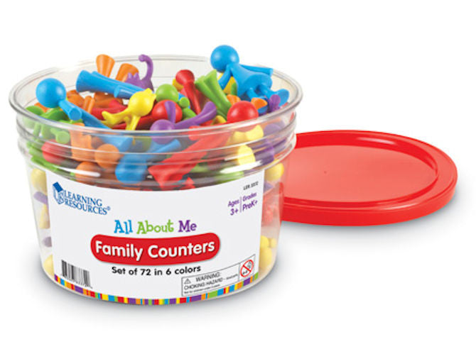 All About Me Family Counters, Set of 72