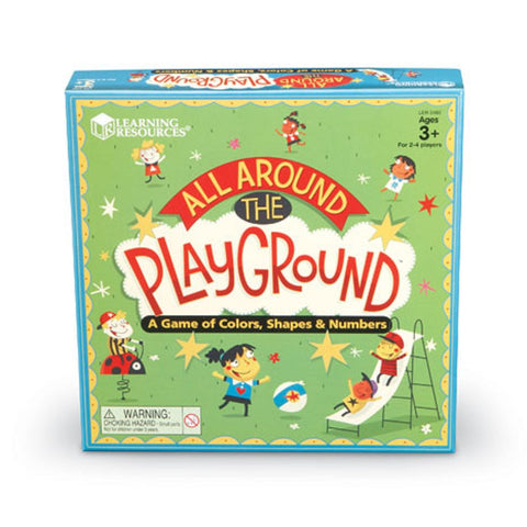 All Around The Playground Shapes, Colors and Counting Game