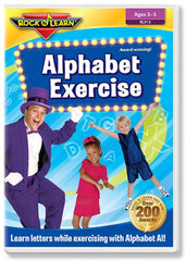 Alphabet Exercise DVD Video - EducationalLearningGames.com