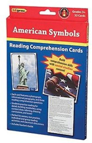 American Symbols Reading Comprehension Social Studies Cards