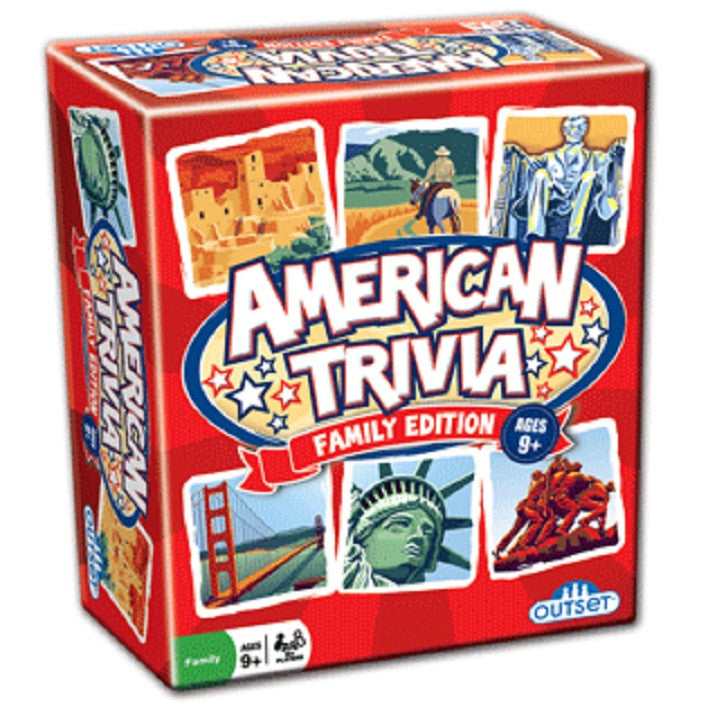 American Trivia Family Edition Game - EducationalLearningGames.com