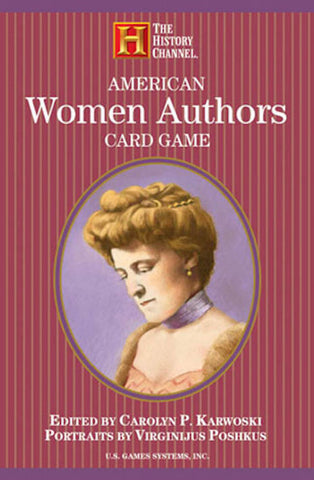 American Women Authors Playing Card Game - EducationalLearningGames.com