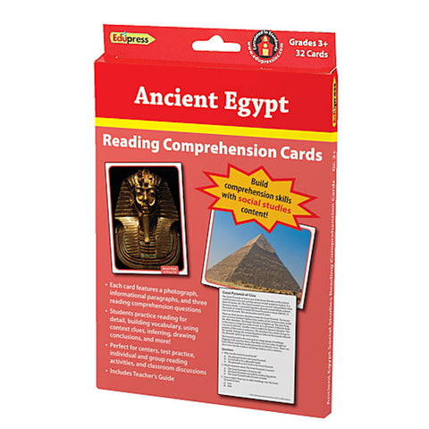 Ancient Egypt Reading Comprehension Social Studies Cards - EducationalLearningGames.com