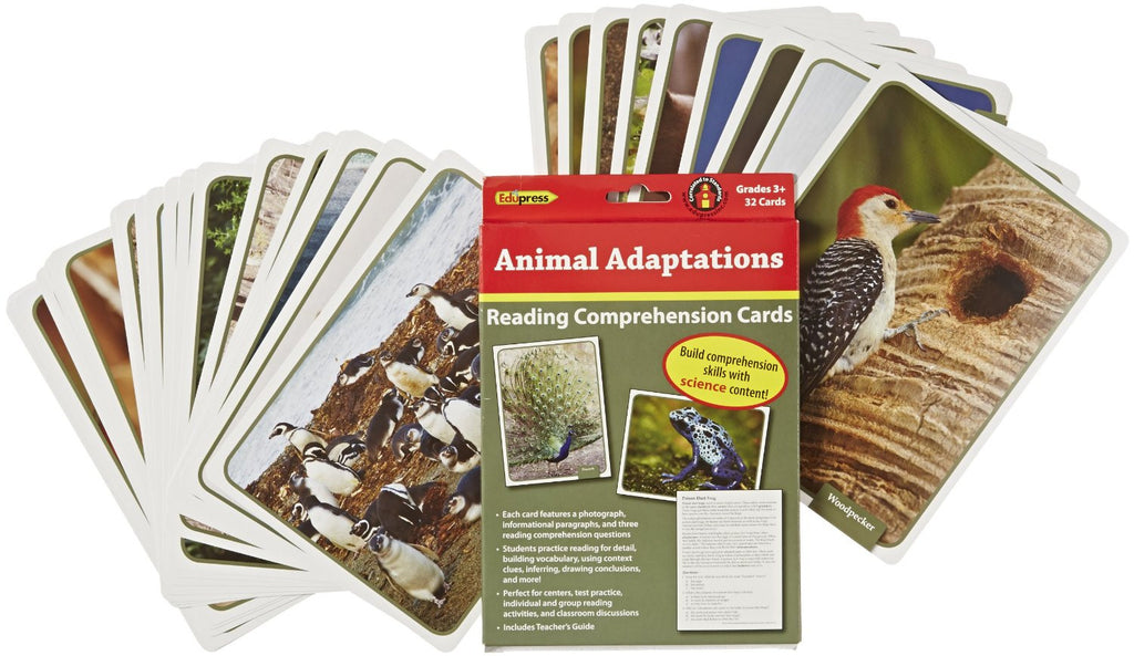 Reading Comprehension Science Cards, Animal Adaptations