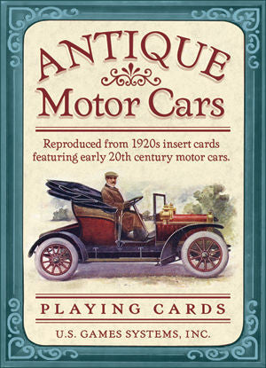 Antique Motor Cars Playing Cards Deck - EducationalLearningGames.com