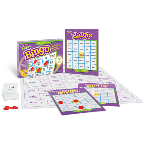 Antonyms Bingo Game - EducationalLearningGames.com
