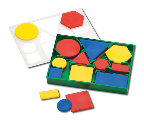 Attribute Blocks, Desk Set, Plastic - EducationalLearningGames.com