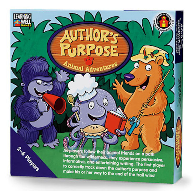 Author's Purpose Animal Adventures Game, Blue Level - EducationalLearningGames.com
