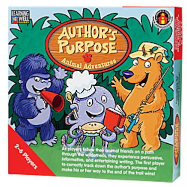 Author's Purpose Animal Adventures Game, Red Level EducationalLearningGames.com