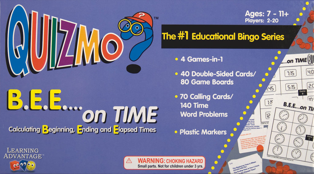 B.E.E…. On Time Quizmo Game - EducationalLearningGames.com