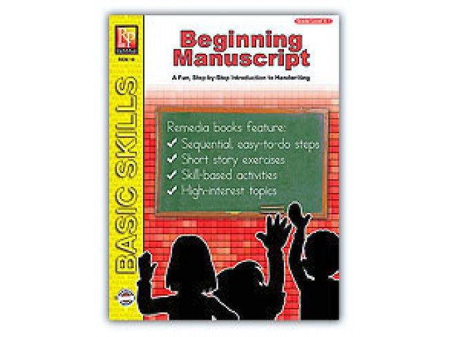 Beginning Manuscript Workbook - EducationalLearningGames.com