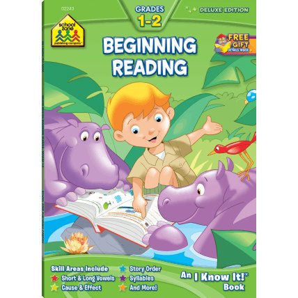 Beginning Reading 1-2 Deluxe Edition Workbook - EducationalLearningGames.com