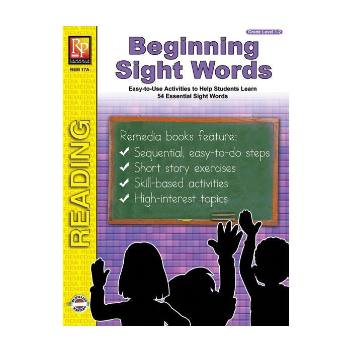 Beginning Sight Words Workbook for Kids - EducationalLearningGames.com