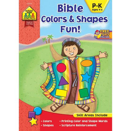 Bible Colors and Shapes Fun Workbook - EducationalLearningGames.com