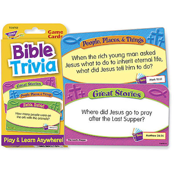 Bible Trivia Challenge Card Game EducationalLearningGames.com