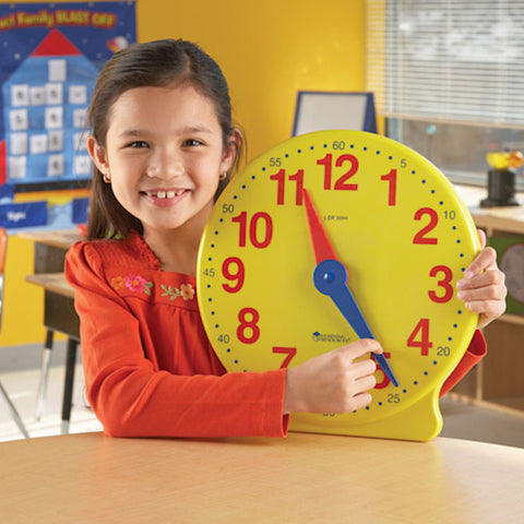 Big Time Learning Clock 12-Hour Demonstration Clock - EducationalLearningGames.com