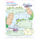 Bilingual Math Basics 2 Spanish Workbook for Kids - EducationalLearningGames.com