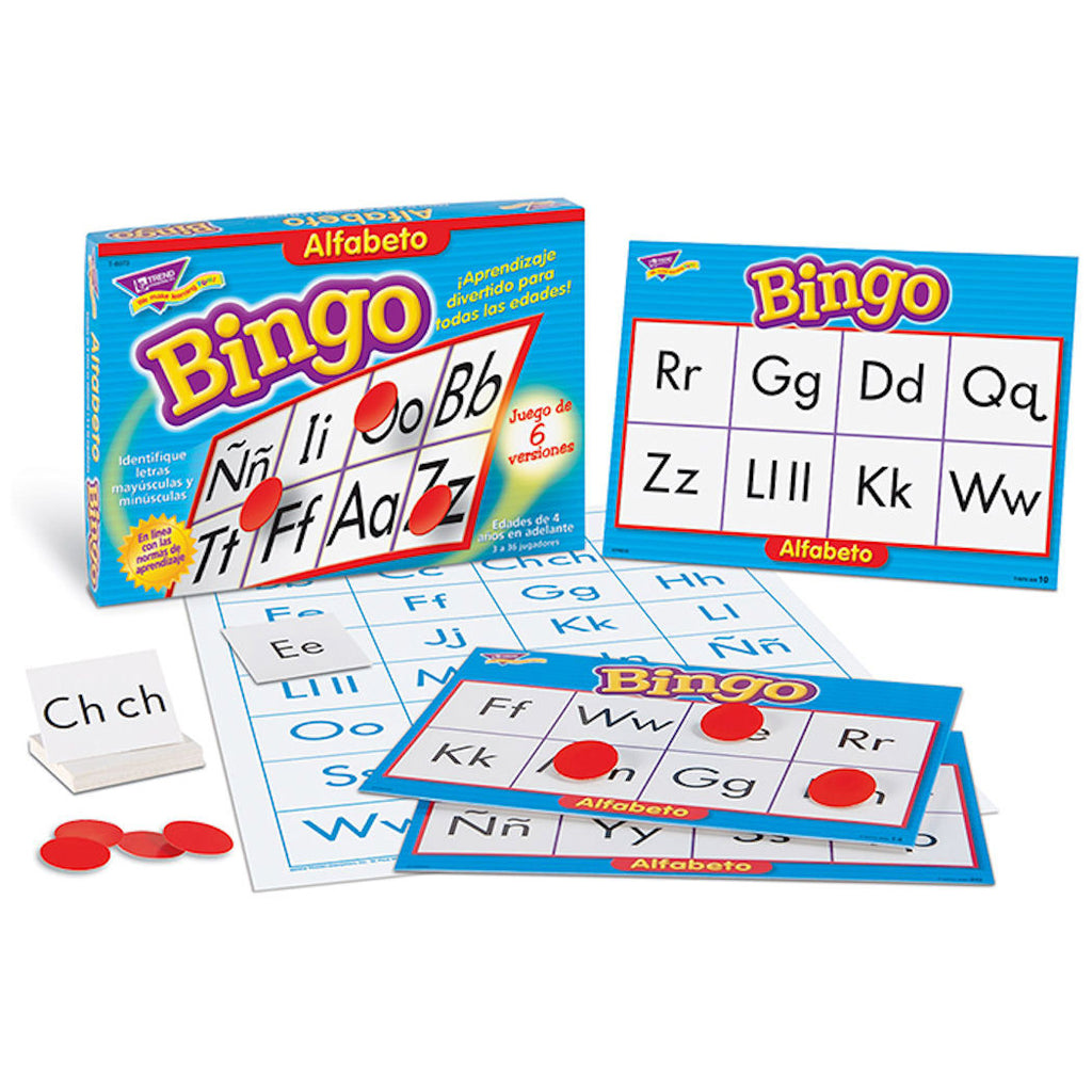 Bingo De Alfabeto Spanish Alphabet Game EducationalLearningGames.com