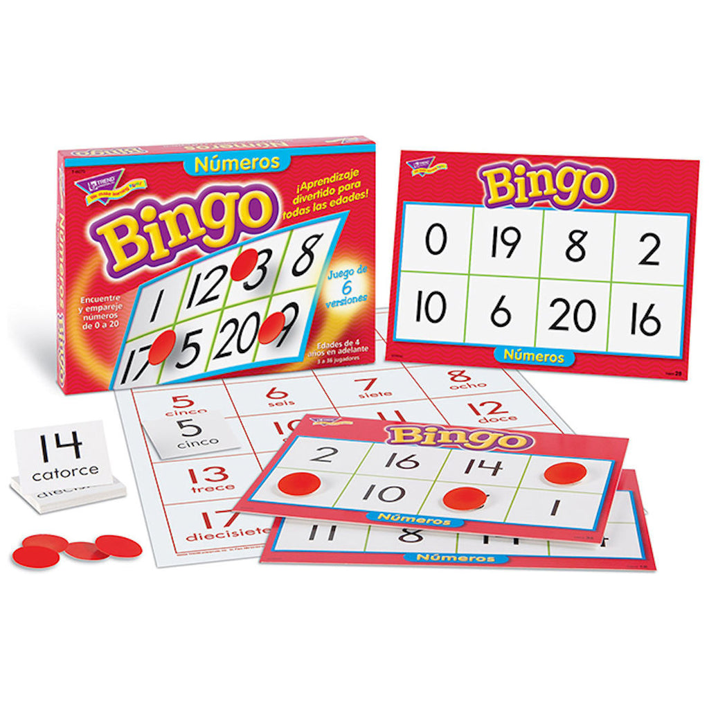 Bingo De Numeros Spanish Numbers Game EducationalLearningGames.com