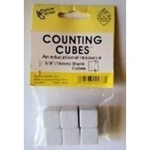 Blank Counting Cubes, Set of 6 Dice - EducationalLearningGames.com