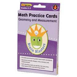 Brain Blasters Math Cards, Geometry and Measurement, Grades 2 - 3
