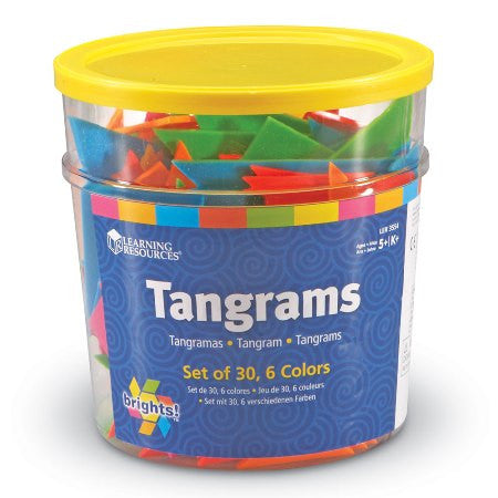 Brights!™ Tangrams Classpack, Set of 30, 6 Colors Ages 5 - Adult