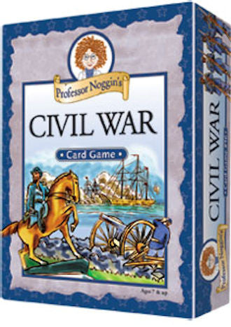 Professor Noggin's Civil War Card Game - EducationalLearningGames.com