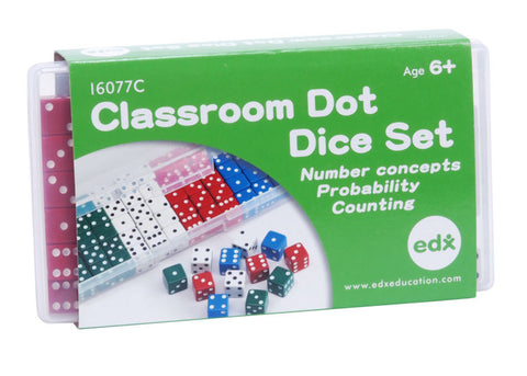 Classroom Dot Dice Set, 16MM EducationalLearningGames.com