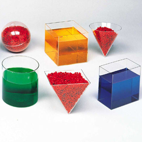 Clear Plastic Geometric Volume Set - EducationalLearningGames.com