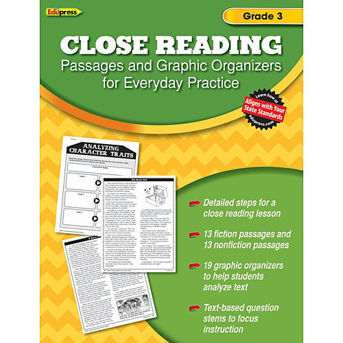Close Reading Practice Books, Grade 3 - EducationalLearningGames.com