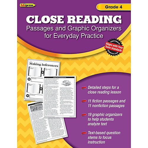 Close Reading Practice Books, Grade 4 - EducationalLearningGames.com