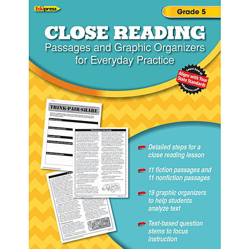 Close Reading Practice Books, Grade 5 - EducationalLearningGames.com