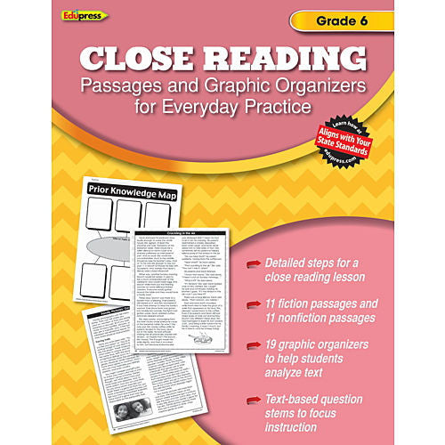 Close Reading Practice Books, Grade 6 - EducationalLearningGames.com