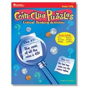 Coin-Clue Puzzles Workbook - EducationalLearningGames.com