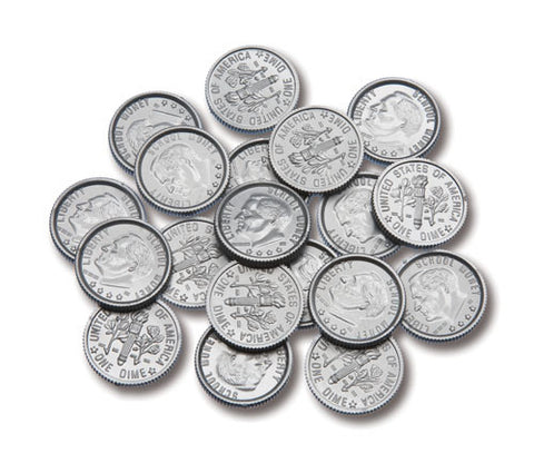 Coins Dimes Play Money, Set of 100