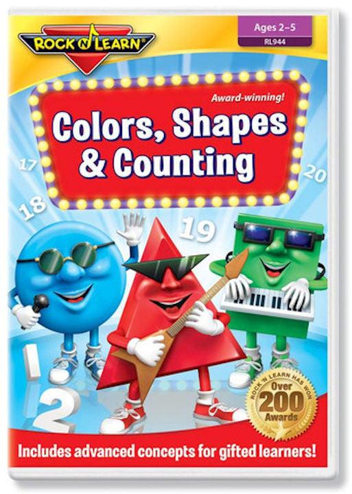 Colors, Shapes & Counting DVD Video