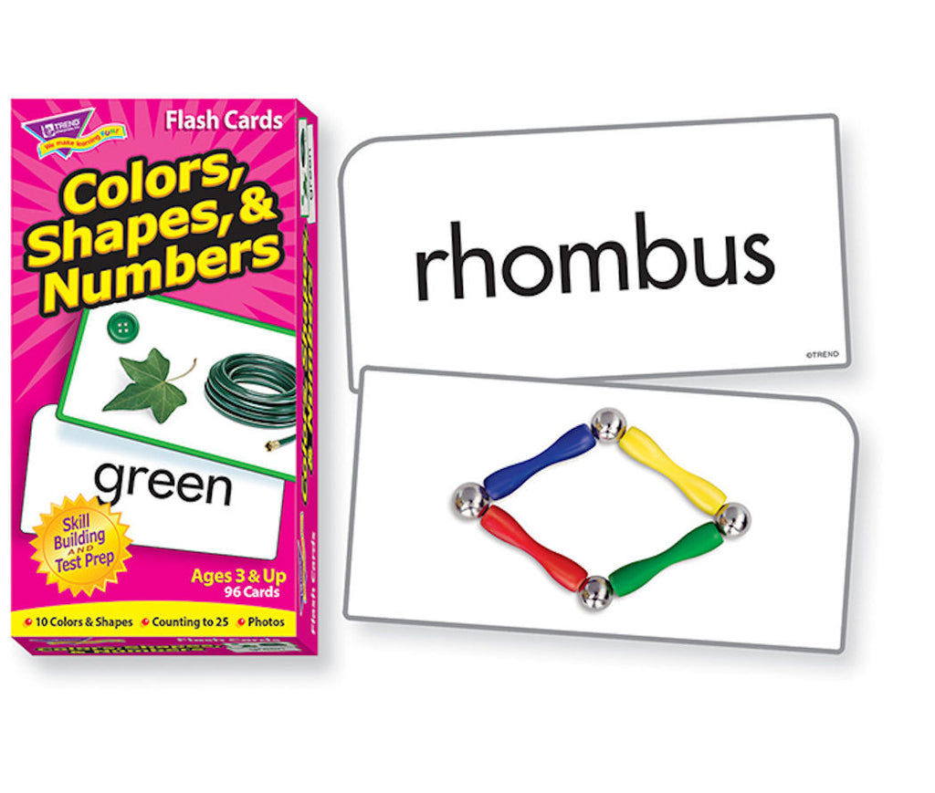 Colors Shapes and Numbers Skill Drill Flash Cards - EducationalLearningGames.com