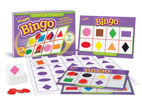 Colors and Shapes Bingo Game - EducationalLearningGames.com