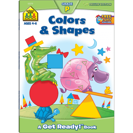 Colors and Shapes Deluxe Edition Workbook - EducationalLearningGames.com